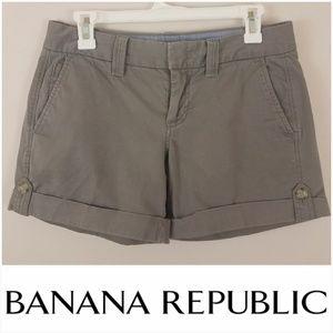 Banana Republic   Green Khaki Shorts      [Shorts]